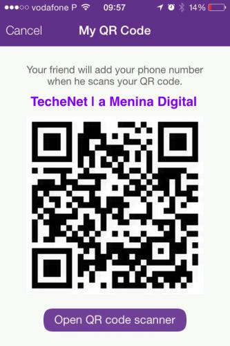 Viber QR Code | TecheNet | a Menina Digital