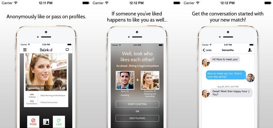 O mais, é o BeLinked também permite aos usuários recomendar possíveis datas para os amigos através de texto ou e-mail.