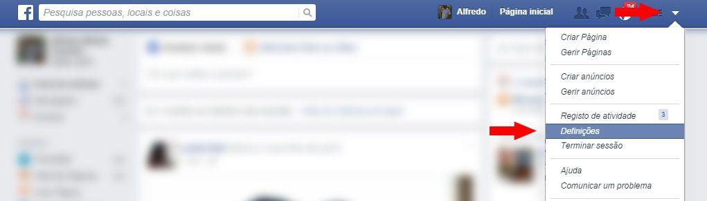 Definições do Facebook