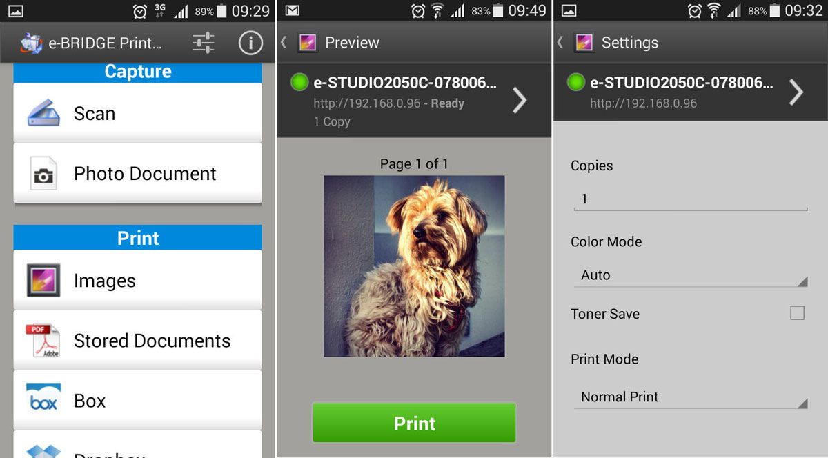 app gratuita e-BRIDGE Print & Capture Lite