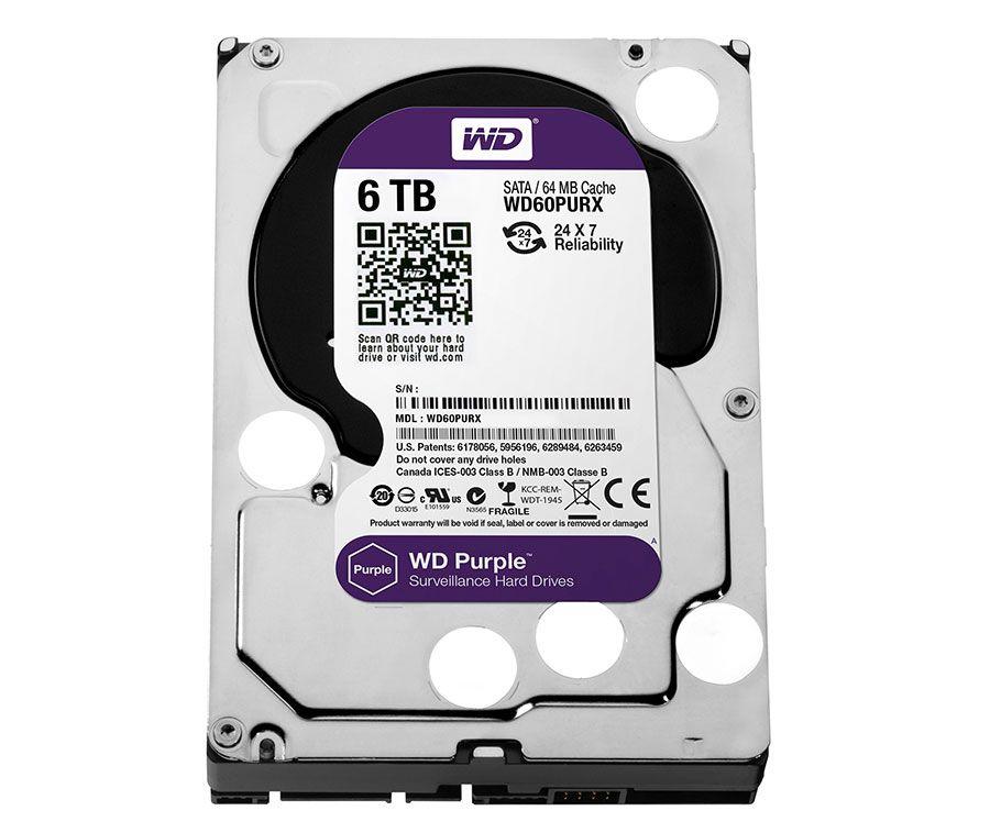 Disco rigído WD Purple com capacidade de 6TB