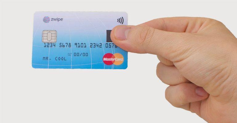 Mastercard Zwipe impressão digital