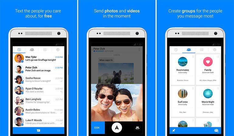 Aplicativo de mensagens Facebook Messenger