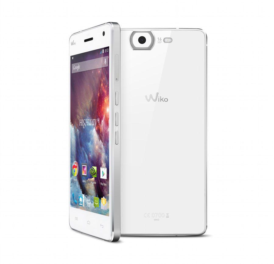 smartphone HIGHWAY 4G na cor branca