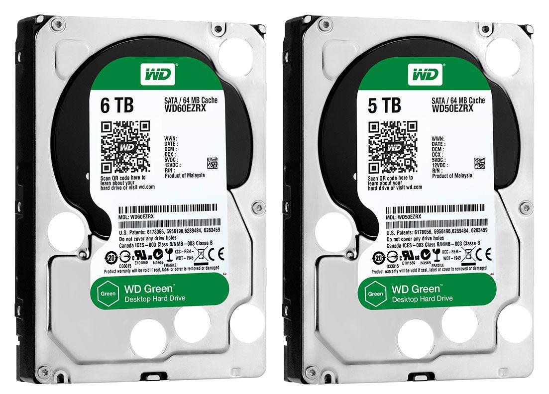 WD Green com 6 TB e 5 TB