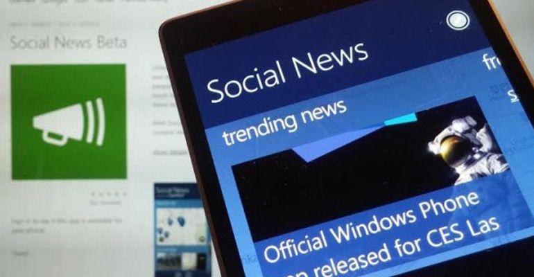 Microsoft Social News Windows Phone