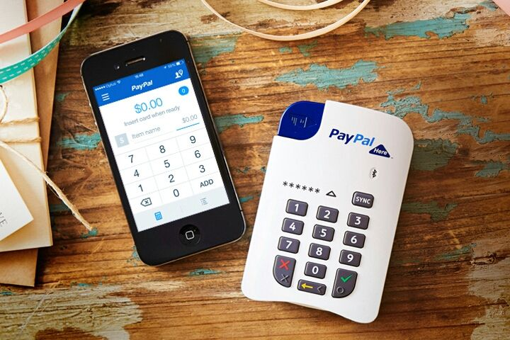 leitor de cartões NFC PAYPAL HERE