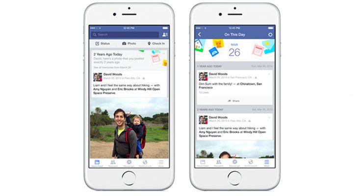 Facebook lança funcionalidade On This Day