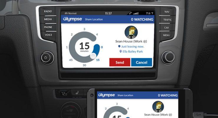 Glympse integrado em carros com MirrorLink