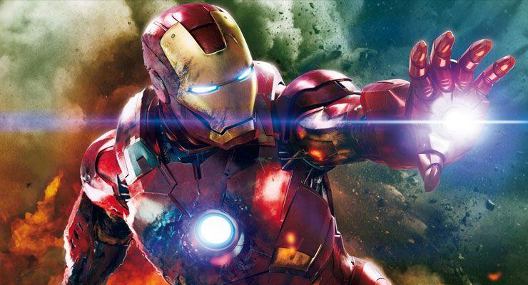 Iron Man Robert Downey Jr braço robótico