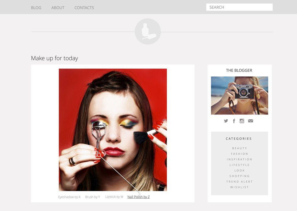 Blog com imagem interativa