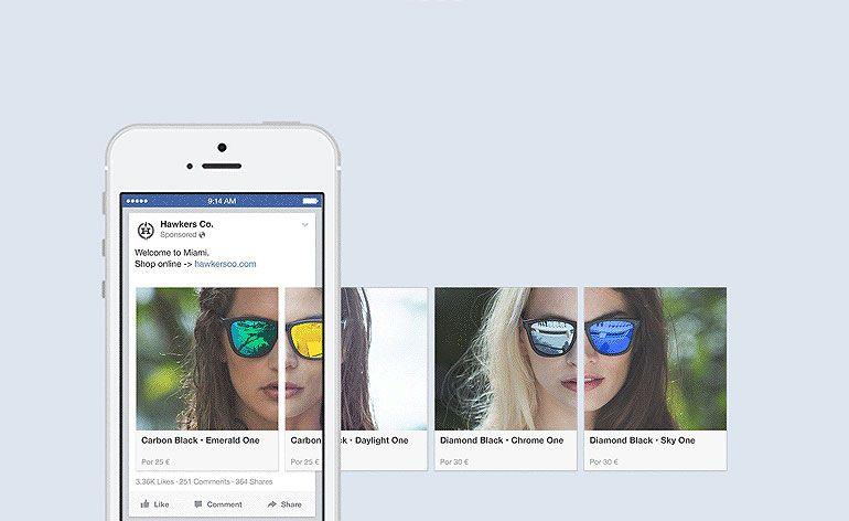 Facebook: anúncios no formato Carousel