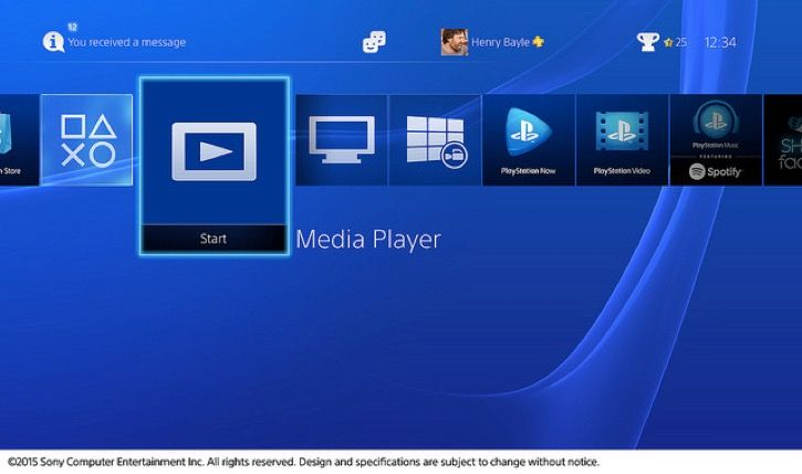 Media Player para PS4