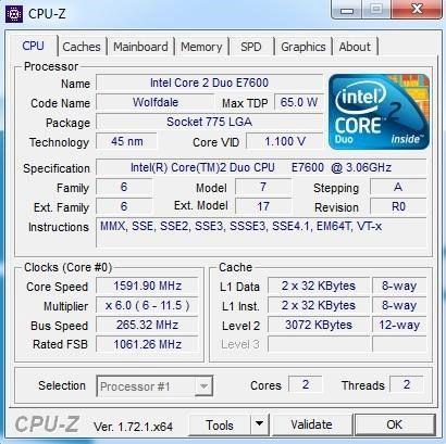 ferramenta CPU-Z