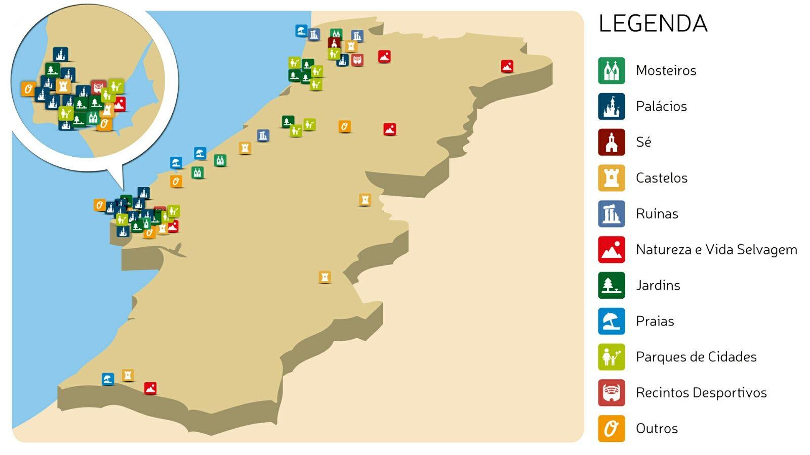 Mapa com pormenor