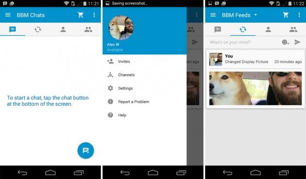 BBM Android Material Design