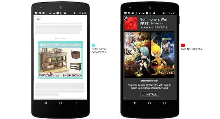 Google altera anúncios móveis