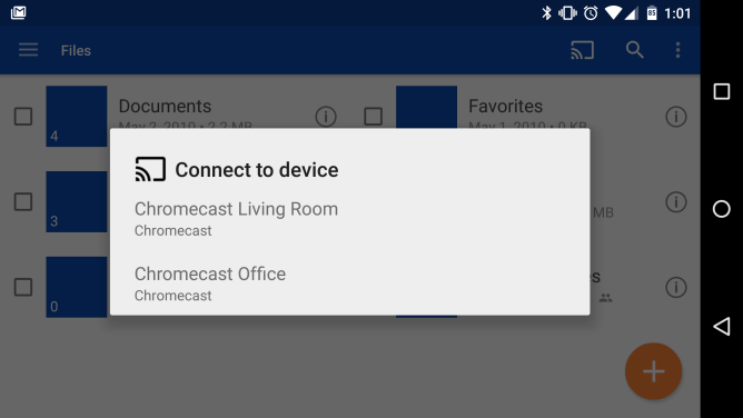 Microsoft OneDrive Android Chromecast