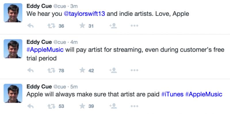 Eddy Cue Twitter Apple Music