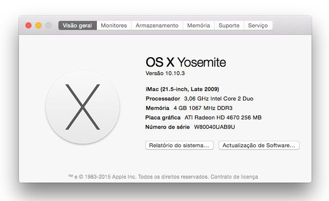 Apple. verificar hardware do Mac