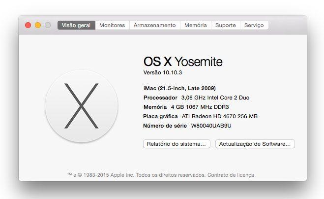 Apple. verificar hardware do Mac