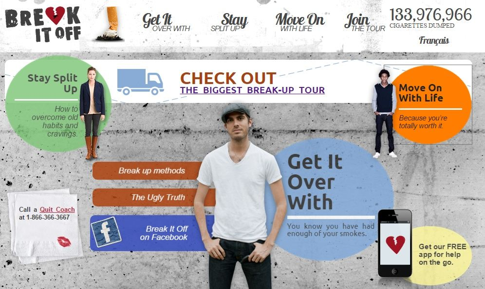 Break It Off com o Smokers 'Helpline'