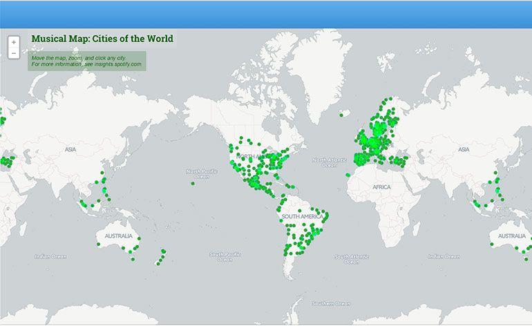 Mapa musical do Mundo