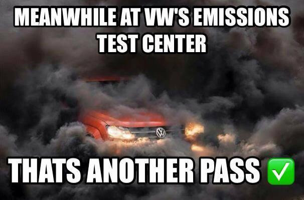"""""""Entretanto, no centro de testes de emissões da VW... É outro que passa"""""""
