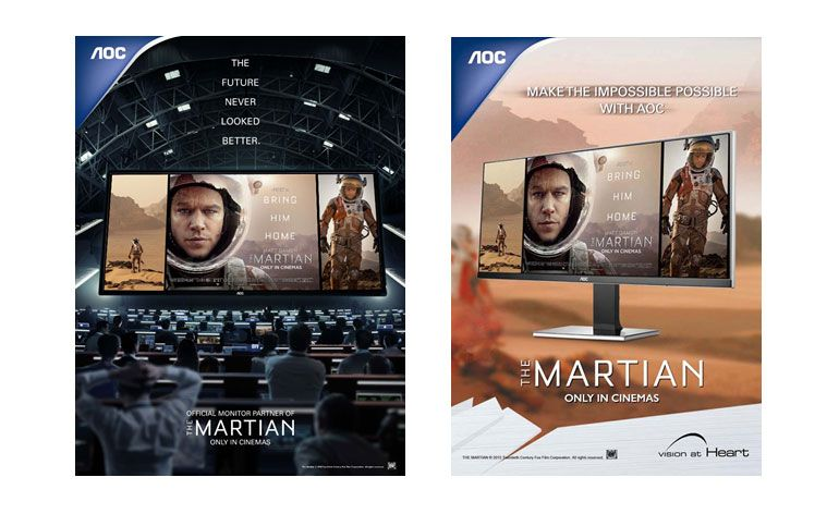AOC é parceira oficial do novo filme The Martian