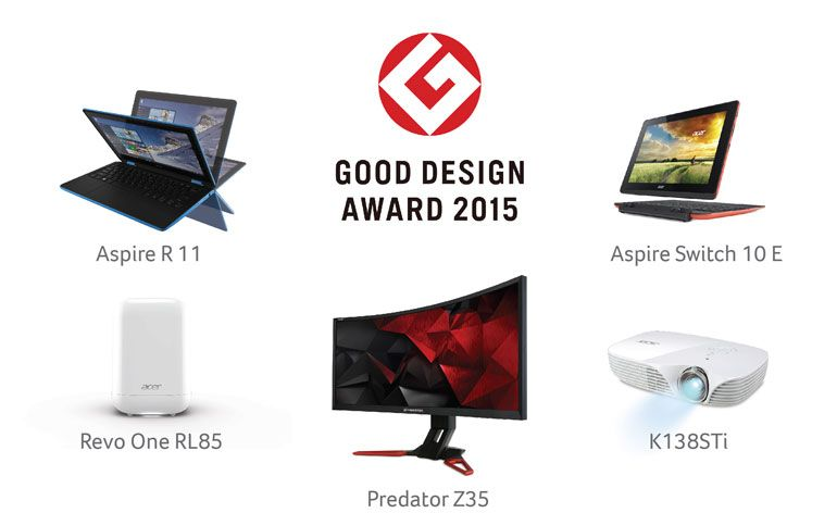 Acer vence cinco prémios Japanese Good Design