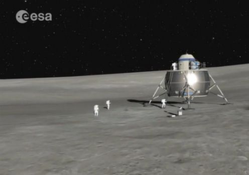 ESA_astronautas na lua