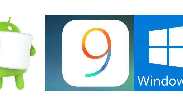 android ios windows 10