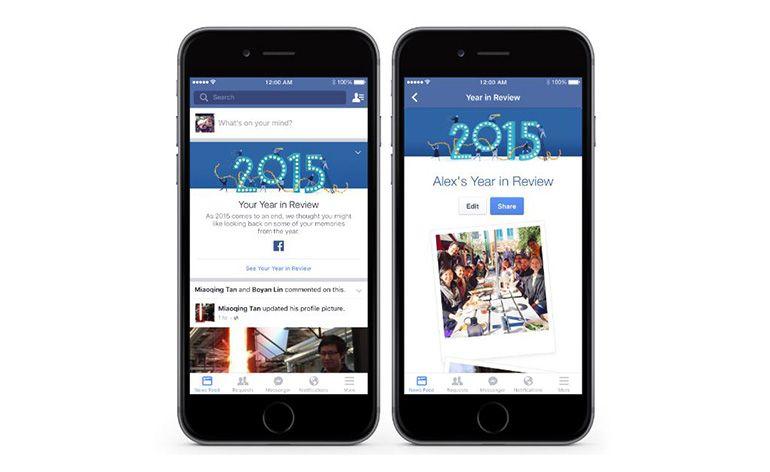 """Facebook lança """"Year in Review"""" para cada utilizador"""