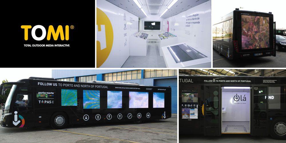 Autocarro interativo móvel de turismo integra tecnologia digital TOMI