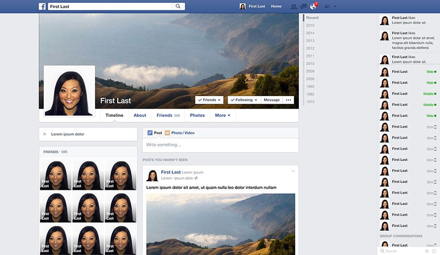 Facebook profile timeline