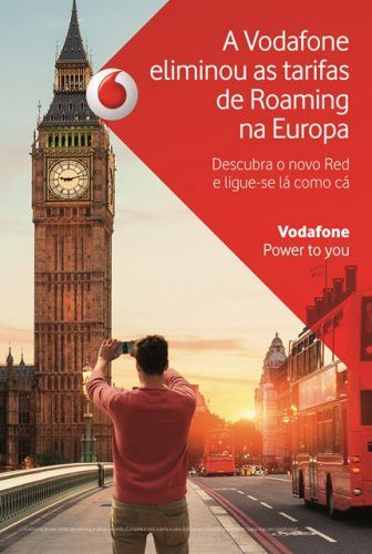 Vodafone acaba com as tarifas de Roaming na Europa