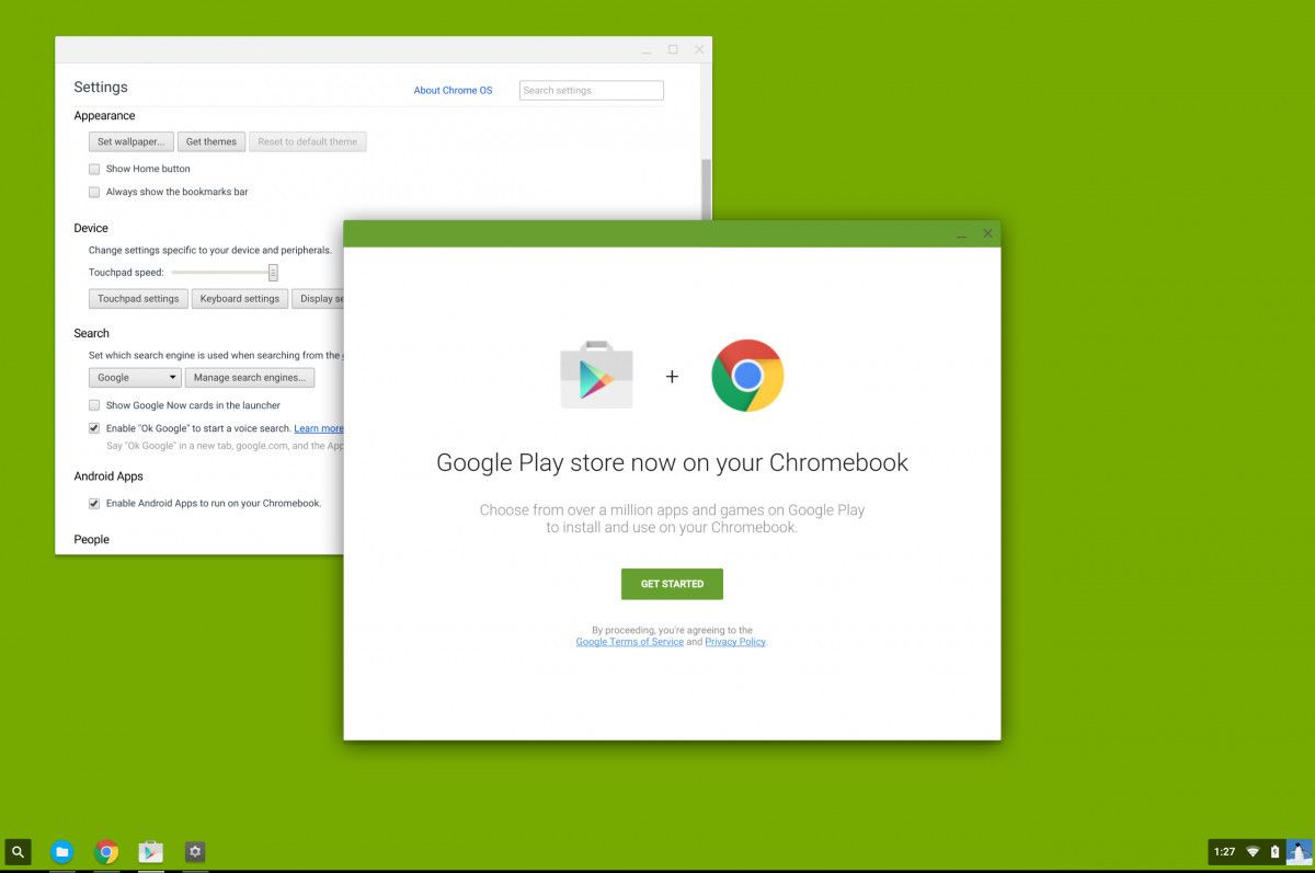 Google Play Store Chrome OS