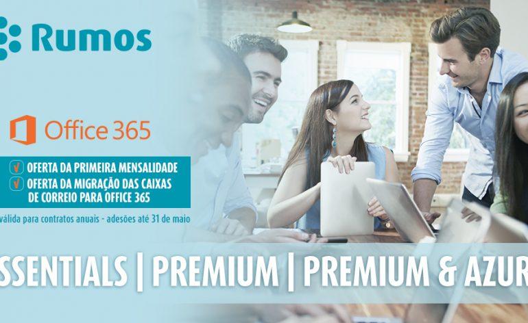 Rumos oferece a primeira mensalidade do Office 365 e migração das caixas de correio