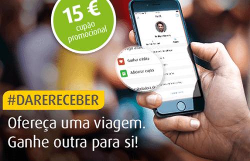 utilizadores vão ser recompensados com vales de 15€ em viagens na frota mytaxi em Lisboa