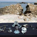 O tesouro foi encontrado nas águas de Cesárea