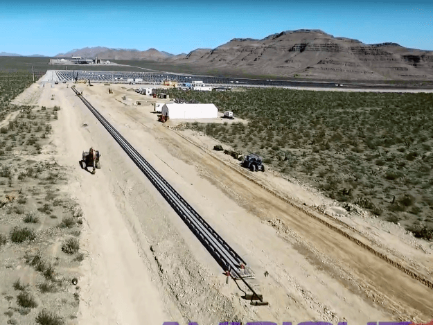 primeiro teste do hyperloop