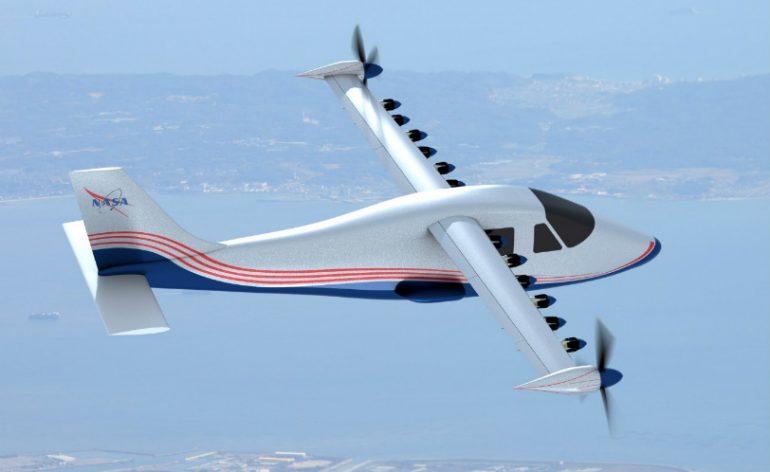 avião eletrico da nasa