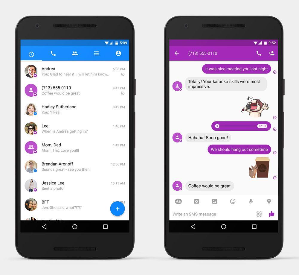 mensagens SMS chegam ao Facebook Messenger