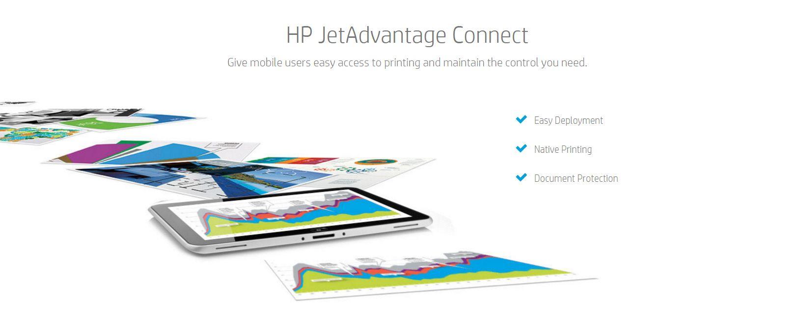 HP JetAdvantage Connect suporta Android e o suporte para equipamentos iOS está previsto chegar no final de Junho