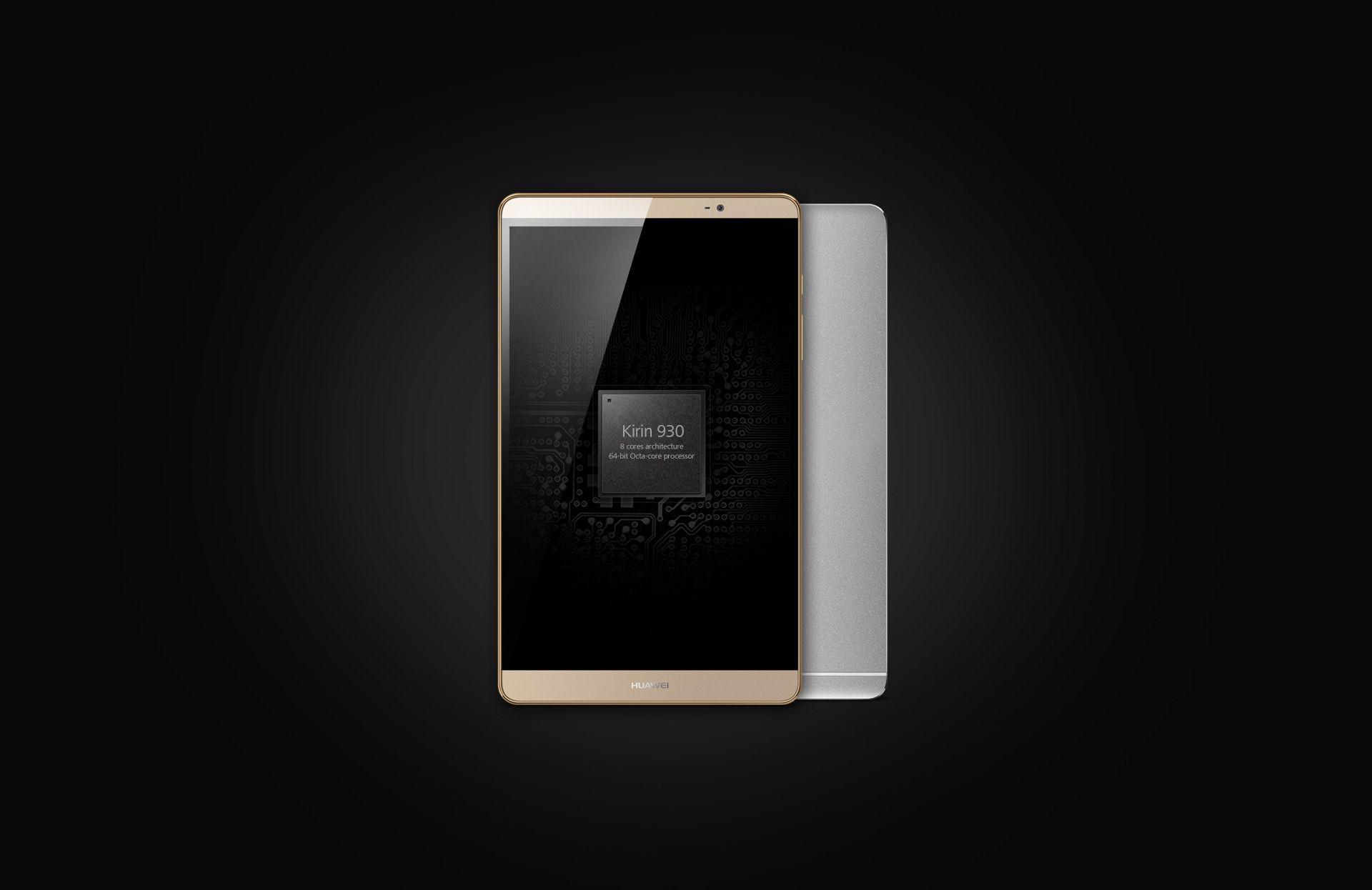 Huawei MediaPad M2 com um processador octa-core Kirin 930 de 64 bits
