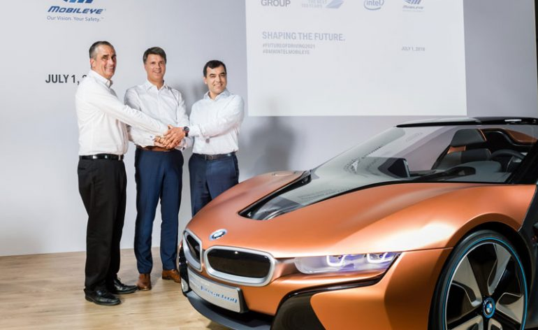 Grupo BMW, Intel e Mobileye aliam-se para dar vida a projeto de Condução Autónoma até 2021