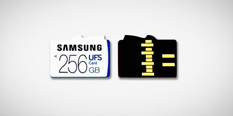 cartão de memória UFS de 256GB