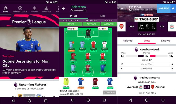 Premier League Android