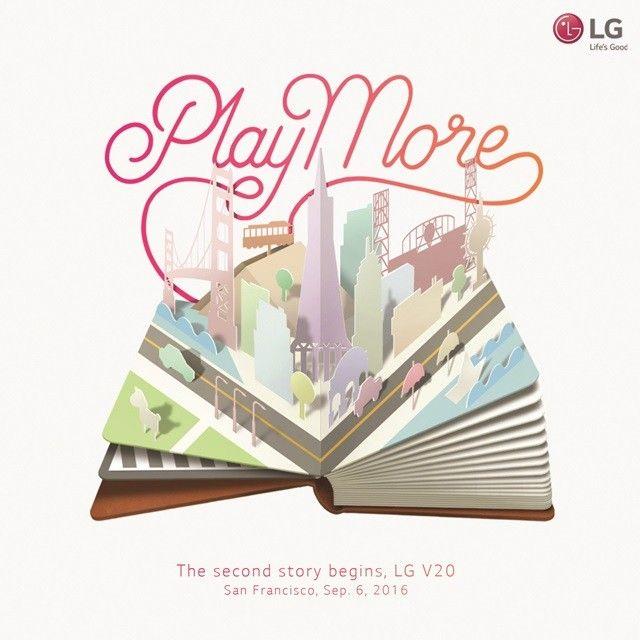 LG V20 convite
