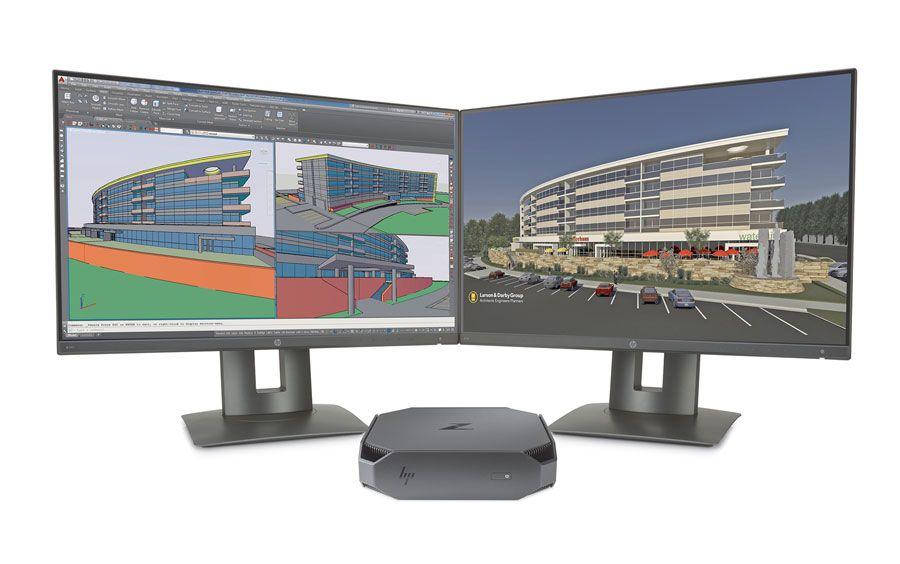 A HP Z2 Mini oferece a potência de um servidor num chassis de 5,8 por 21,5 centimetros
